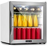 Klarstein Beersafe L Crystal White Refrigerator w/Glass Door - Mini Fridge, Mini Bar, Cooler, 47 litres Capacity, 42 dB…