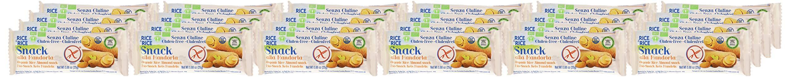 Probios Snack di Riso alla Mandorla - 24 confezioni da 25 gr, Senza glutine 2 spesavip