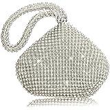 Pochette da sera scintillante, mini borsetta glitterata con strass e strass, borsa da polso a forma di borsa