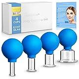 SENTANA® cupping glas set [4 stuks] - Hoogwaardige cupping set perfect voor elk deel van het lichaam - Cupping met zuigkogel