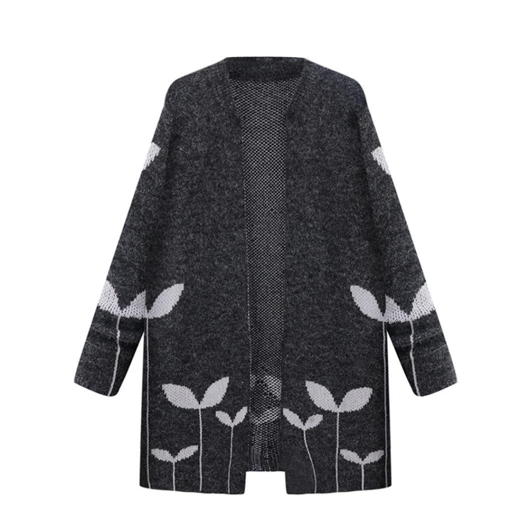 Kolylong Womens fashion knitting oversize Coat Long Cloak Overcoat ...