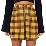 Minifalda de Mujer con Cremallera Material Falda Lápiz de Cintura Alta Mini Falda Corta de Moda de Cuero y Algodón Vestido In