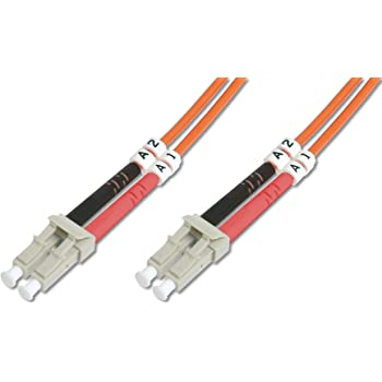 OM4 Duplex Patchkabel Low Loss ROLINE LC//LC LWL Netzwerkkabel Glasfaser Kabel Violett 10 m