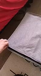 Decken Lagerung f/ür Bettdecken Kleidung 70x43x18cm Unterbettkommode mit Rei/ßverschluss und Haltegriffen Kissen und mehr SimpleHome 2er Faltbare Unterbett Aufbewahrungstasche aus Stoff