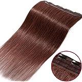 Une Pièce Extension a Clip Cheveux Naturel Monobande 100% Human Hair