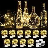 WEARXI Guirlande Lumineuse LED - 10 Pack 2M 20LEDs Fil de Cuivre, Guirlande Lumineuses Piles pour Vase Long et Fin, Table, In
