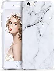 iPhone 6/6s Marmor Hülle, Imikoko® Matt Weich Silikon Handyhülle Schlank TPU