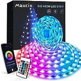 10M Tiras Led, Maxcio Bluetooth Luces Led Habitación con Modo Música, 24 Teclas Control Remoto, 8 DIY Escenas, Tiras Led rgb
