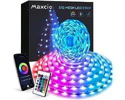LED Strip Lights 10M, Maxcio Bluetooth Music Sync LED Light Strip with IR Remote, Smart Timer & Scenes, SmartLife APP Control