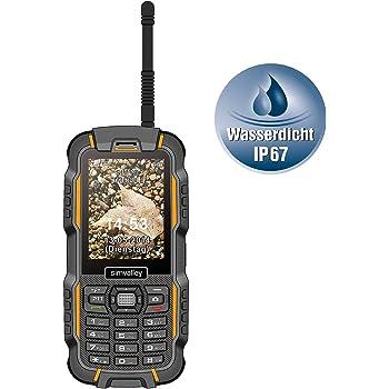 SimValley Mobile - Téléphone Outdoor Dual SIM ''XT-980'' avec Fonction Talkie Walkie: Amazon.fr