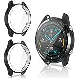CAVN Skärmskydd Kompatibelt med Huawei Watch GT 2 46mm, [2 stycken] Flexibelt TPU Skyddsfilm (Inte Tillämpligt på GT 2 Pro oc