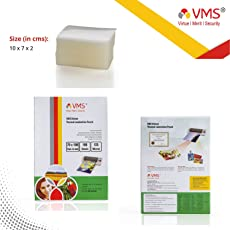 VMS Deluxe Laminating Pouch Film 125 Microns (Lamination Pouch) (70 x 100mm) set of 2 (200 pouch) Specially for ID Card
