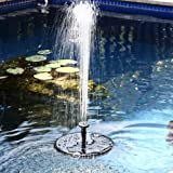 FISHOAKY Pompa Solare per Fontana, 7V 1.4W 50CM 160L/H Pannello Solare Fontana Pompa Acqua Solare per Laghetto