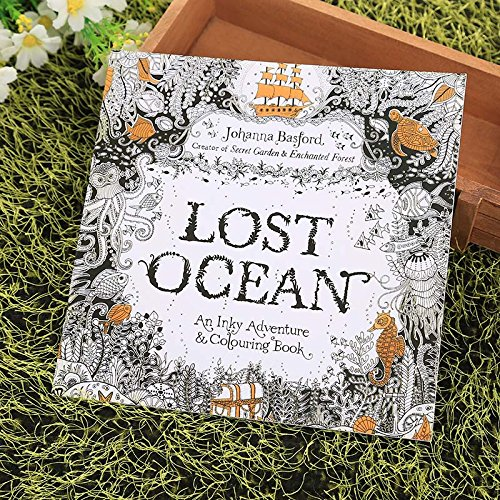 Tiptiper libro da colorare antistress, colorare, libri da colorare, bambini, bambini, adulto, inglese, oceano perduto, disegno, graffito