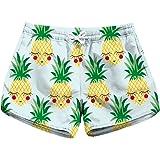 Honeystore Women's Casual Swim Trunks Quick Dry Print Boardshort Beach Shorts