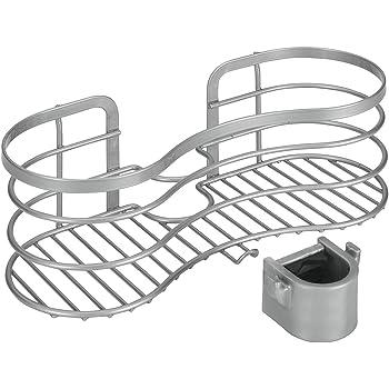 lef duschablage zum h ngen aus raum aluminium ohne bohren zu montieren mit 2 haken. Black Bedroom Furniture Sets. Home Design Ideas
