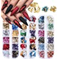 3 dozen 3D Nail Art Glitter pailletten, Kalolary Sparkle Laser kleurrijke nagel pailletten acryl paillettes, holografische na