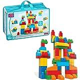 Mattel Mega Bloks CNM43 Bouwstenen zak Deluxe, 150 delen, basiskleuren