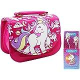 Asera Combo of Unicorn Sling Bags / Shoulder Bag / Hand Bag / Purse with Unicorn Earphones for Girls Kids Birthday Return Gif