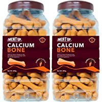 Meat Up Calcium Bone Jar - Carrot Flavour, Dog Supplement Treat - 800g (Buy 1 Get 1 Free)