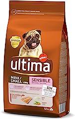ultima Pienso para Perros Mini Sensitive con Salmón - 1.5 kg