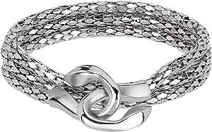 BREIL Collezione Cobra in Acciaio Lucido - Collana, Bracciale e Orecchini