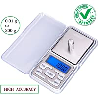 RTB High Accuracy Digital Pocket LCD Weighing Scale, 200 g/0.01 g