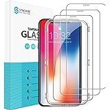 Syncwire Lot de 3 films de protection d'écran en verre trempé HD pour iPhone 11 Pro/X/XS Dureté 9H Film de protection d'écran