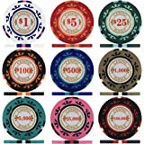Premier Poker Chips UK - Crown Casino Royale 14g Poker Chips - Sample Pack Containing All 9 Values
