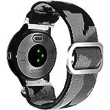Abanen for Garmin Venu/Vivoactive 3 Watch Band, Quick Release 20mm Camo Woven Loop Elastic Wristband Strap for Vivoactive 3 M
