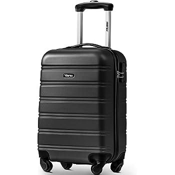 """Travelhouse ABS Hard shell 4 wheel Travel Trolley Suitcase Luggage set Holdall Case (20"""", Black)"""