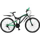 26 Zoll Kinderfahrrad Mountainbike Fahrrad Vollgefedert Jugendfahrrad Kinderrad Rad Shimano 18-Gang X-TREME