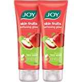 Joy Skin Fruits Softening Glow Apple Face Wash With Natural Ingredients, For All Skin Type (Pack of 2 X 100ml)