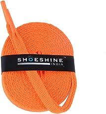 Shoeshine India orange sport shoe lace flat shoelace (Set of 2 Pairs) Size S-90cm & 7mm W