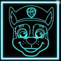 Draw Neon Glow Puppy Coloring Book