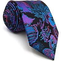 Shlax&Wing Multicolore Patterned Cravatta da uomo Seta Geometrico Unico Nozze Lungo