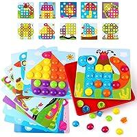 AMOSTING Mosaique Enfant, Jeux Educatif Enfant Jeux Montessori Colorés Mosaique Loisir Creatif Enfant d'apprentissage…