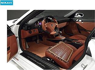NIKAVI Natural Bamboo Wood Car Seat Mat/Chair/Office//Dinning Room Chair Mats -Reduces Heat (OCHRE)