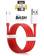 ONCRO® Compatible Dash/Warp 5-6a Rapid Charging and sync USB Type C Cable Suitable for OnePlus All Type C Devices 7, 7 Pro, 6T, 6, 5T, 5, 3T, 3