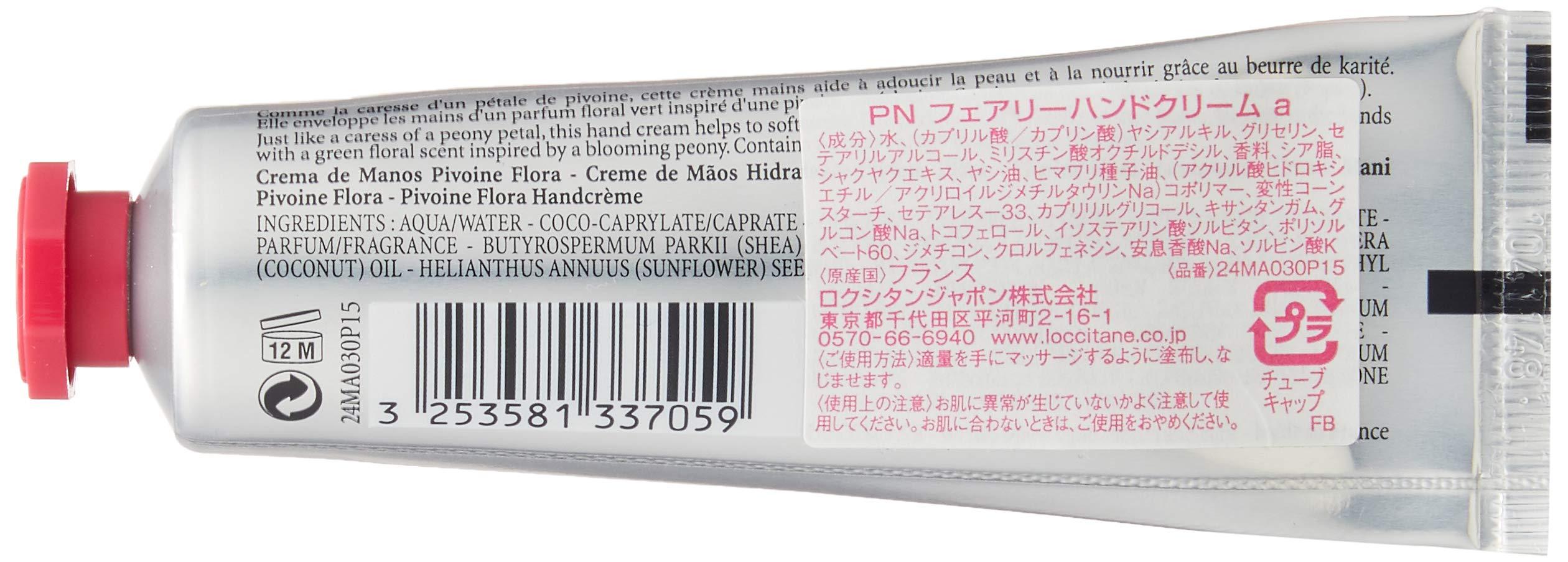 Crema de manos pivoine flora – 30 ml – l'occitane.