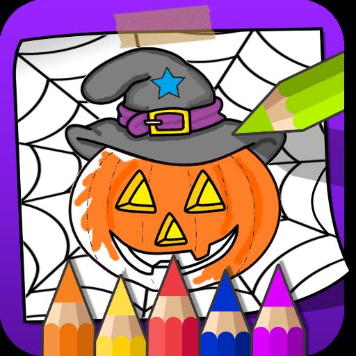 (Färbung und Farbe Halloween)