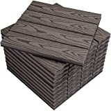 WOLTU WPC Composiet Terrastegels Set van 11 Kliktegels Houtnerf Balkontegels - Koffie, 30 x 30 cm (1 m²), GTF002hco
