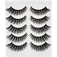 Angelie Eyelashes 5 pairs of popular Bonjour false eyelashes, reusable handmade false eyelashes, suitable for natural makeup, daily makeup eyelash extension