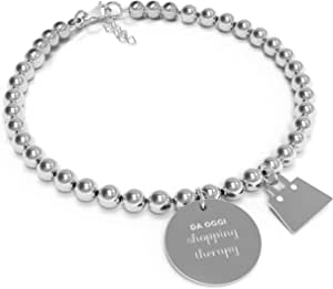 10 Buoni Propositi Bracciale Donna Shopping therapy Collezione Mini Jewel