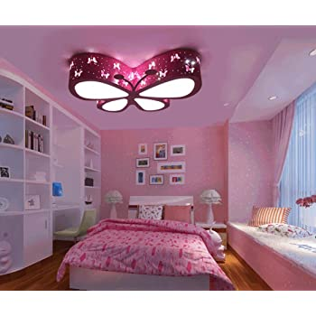 Chandeliers Ceiling Lights Pink Butterfly ,Cute LED Ceiling Lights ...