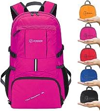 35L Ultraleicht Faltbare Wanderrucksack, ZOMAKE Multi-Funktionale Stopfbare Wasserdichte Casual Camping Tagesrucksack für Outdoor-Sport Klettern Bergsteiger
