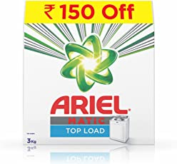 Ariel Matic Top Load Detergent Washing Powder - 3 kg (Rupees 150 Off)