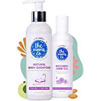 The Moms Co. All Natural Hair Care Essentials for Baby (Natural Shampoo, 200ml and Natural Hair Oil, 100ml)