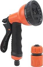 HOKIPO® 8 Pattern High Pressure Garden Hose Nozzle Water Spray Gun with Connector