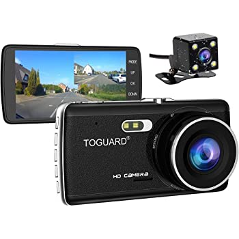 7527ca6eda  Upgraded 720P Rear Cam TOGUARD Full HD 1080P Dual Dash Cam 4.0 inch LCD  Screen Car Dash Cam DVR